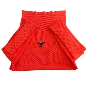 Express Bright Coral Spring Sweater